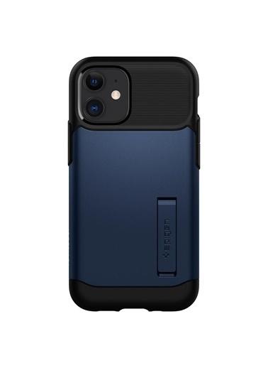 Spigen Spigen iPhone 12 Mini Kılıf, Spigen Slim Ar Mavi